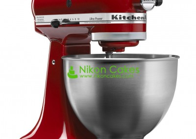 Red Kitchen Aid Mixer